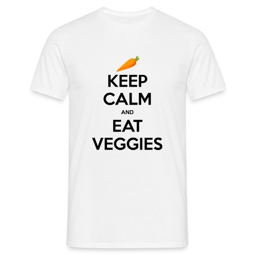 keepcalmveggieblack png - Men's T-Shirt