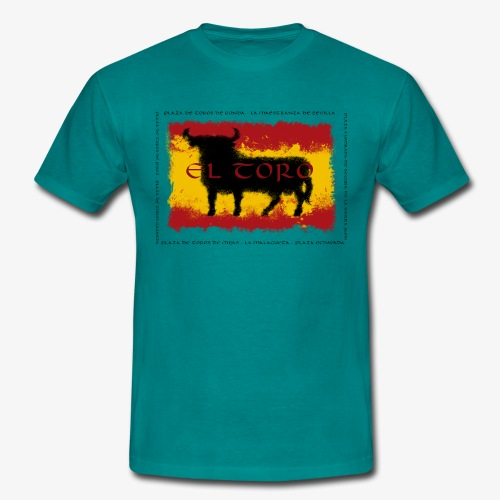 Spain Flag with bull - Männer T-Shirt