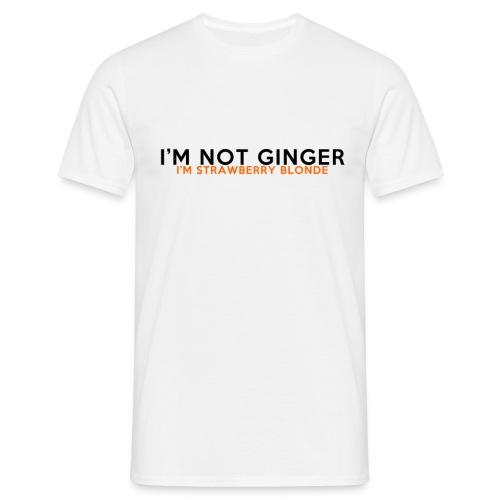 I m not Ginger png - Men's T-Shirt