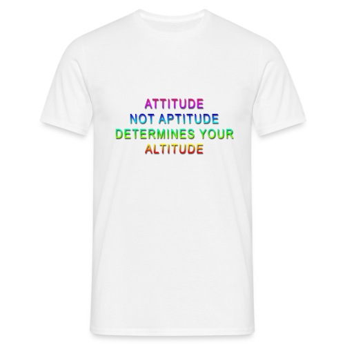 Attitude Determines Rainbow copy png - Men's T-Shirt