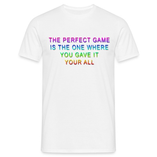 The Perfect Game Rainbow copy png - Men's T-Shirt