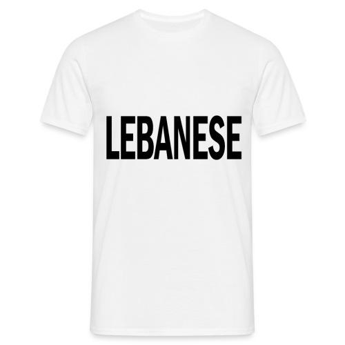 LEBANESE png - Men's T-Shirt