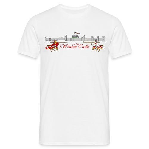windsor jousters writing png - Men's T-Shirt
