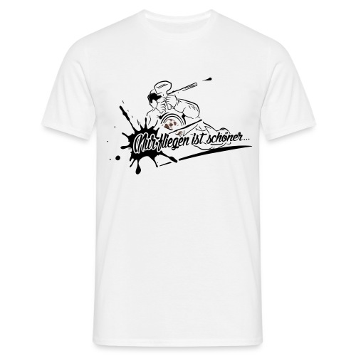 Fliegen_Grafik - Männer T-Shirt