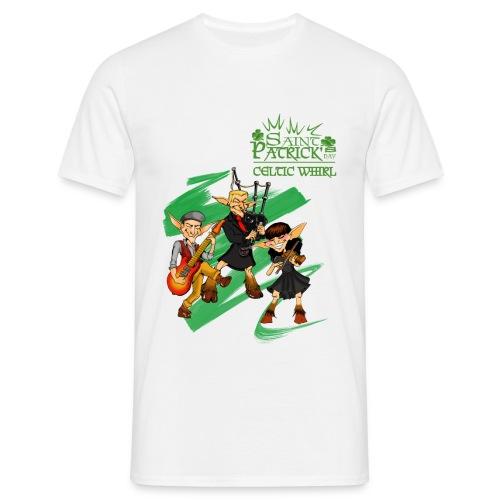 SaintpatrickCELTICWHIRL3 png - T-shirt Homme