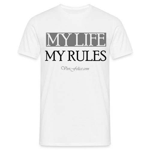 My Life - My Rules Spread - Männer T-Shirt