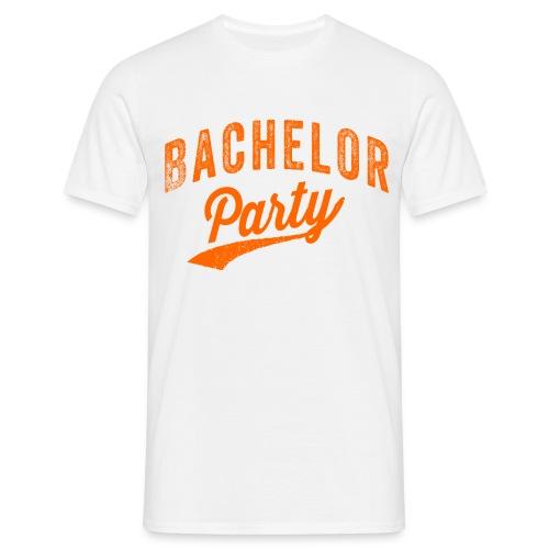 Bachelor Party oranje - Mannen T-shirt
