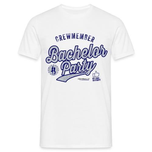 Vrijgezellenfeest Crew blauw - Mannen T-shirt