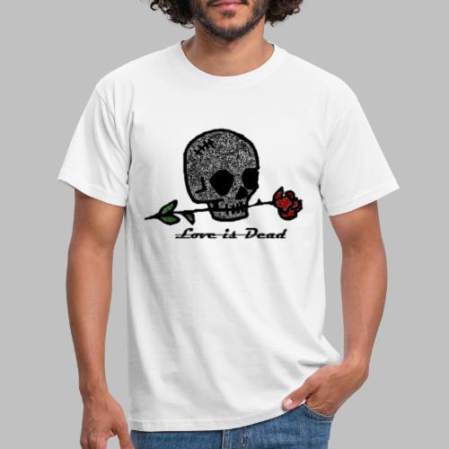 Love Is Dead Custom Skull Design - Mannen T-shirt