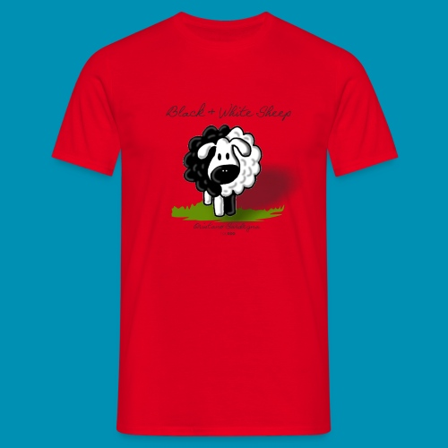 B W Sheep green png - Maglietta da uomo