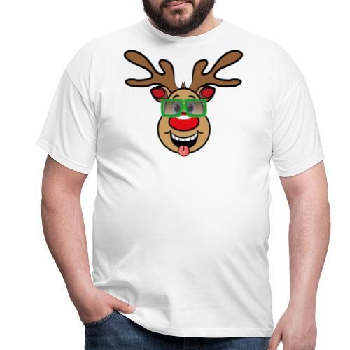 Weihnachten Rudi mit Brille - Männer T-Shirt
