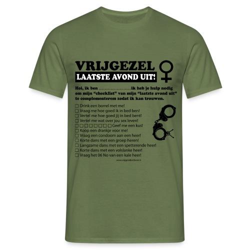 Vrijgezellenshirt vrouw - Mannen T-shirt