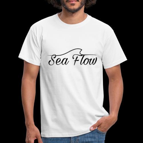 Sea Flow logo originale grande - Maglietta da uomo