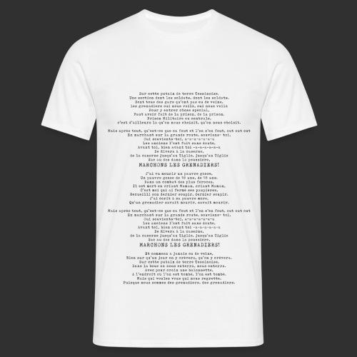 Chantson de Grenadier - Männer T-Shirt