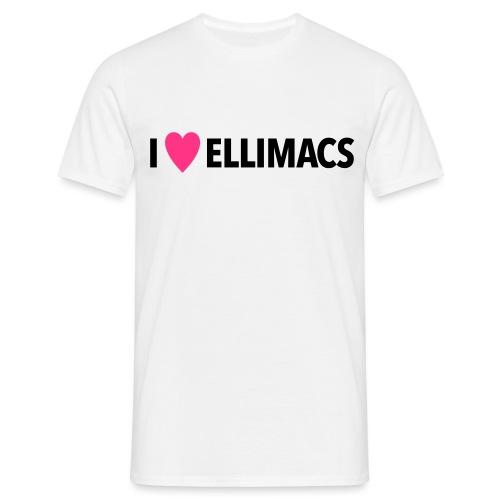 I love ellimacs - Men's T-Shirt