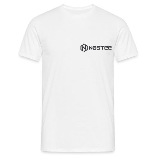 NASTEE logo Schwarz - Männer T-Shirt