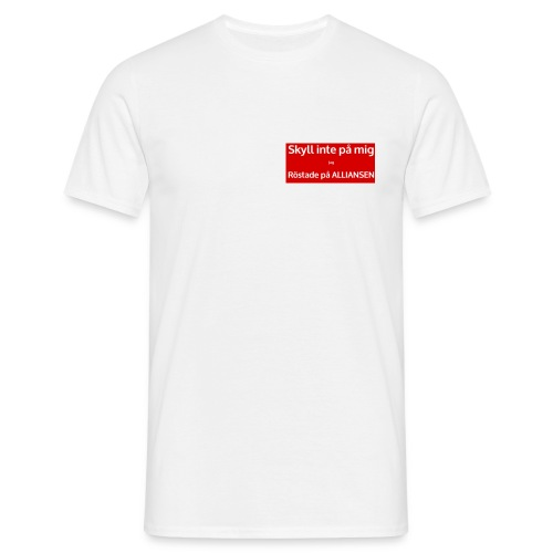 Jag röstade på alliansen - T-shirt herr