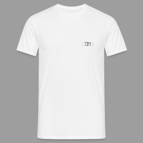TMZ Logo black grey - Männer T-Shirt
