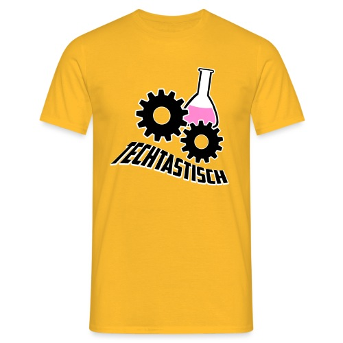 Techtasticlogoweiß png - Männer T-Shirt