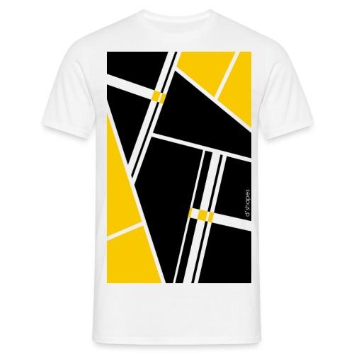 d'shapes black yellow - Maglietta da uomo