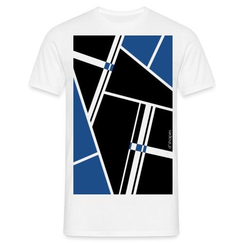 d'shapes black blue - Maglietta da uomo