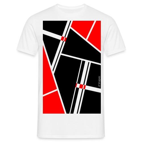 d'shapes black red - Maglietta da uomo
