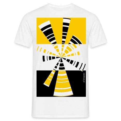 d shapes radio giallo - Maglietta da uomo