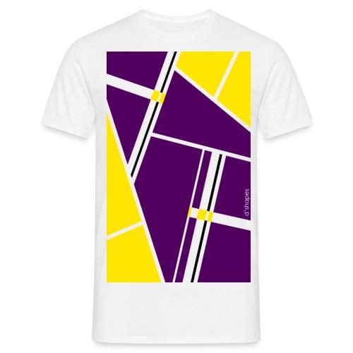 d shapes block giallo viola - Maglietta da uomo