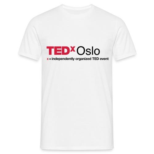 TEDxOslo slogan positiv - T-skjorte for menn