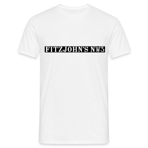 Fitzjohn's NW3 black bar - Men's T-Shirt