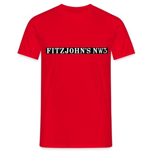 Fitzjohn's NW3 black bar - Men's T-Shirt