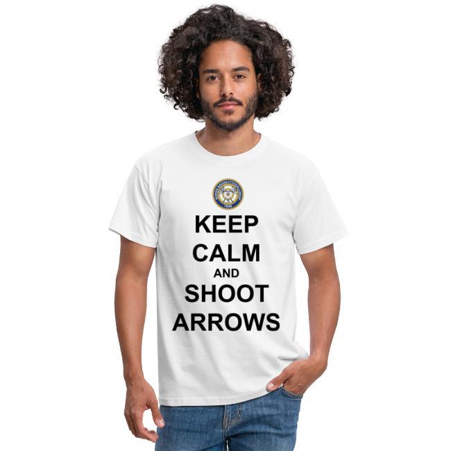 Keep Calm And Shoot Arrows - Svart Text