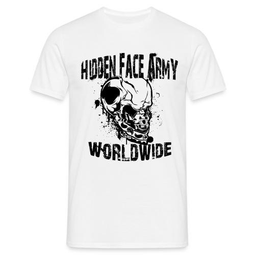 Hidden Face Army Worldwide TMR Grafix SCHWARZZZZ - Männer T-Shirt