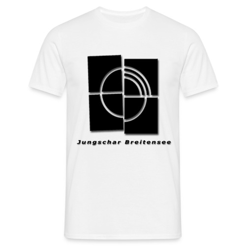 junschar logo schwarz t - Männer T-Shirt
