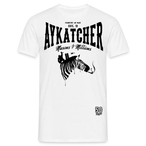 Zebra Black - Männer T-Shirt