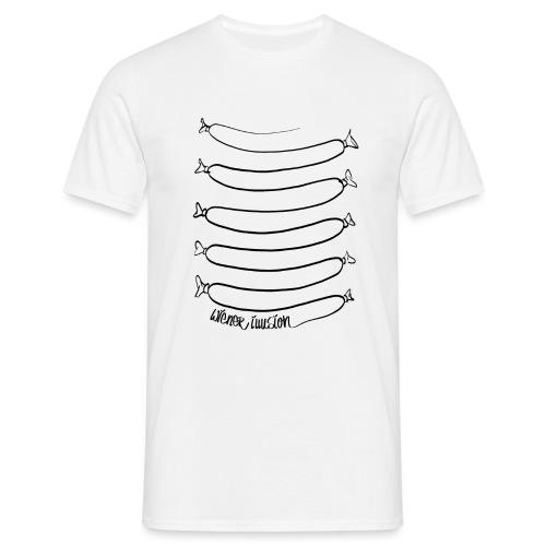 Wiener Illusion (schwarz auf weiß) - Männer T-Shirt