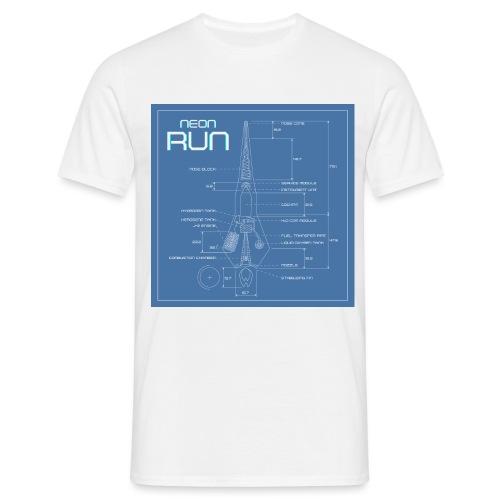 NeonRun blueprint - Mannen T-shirt