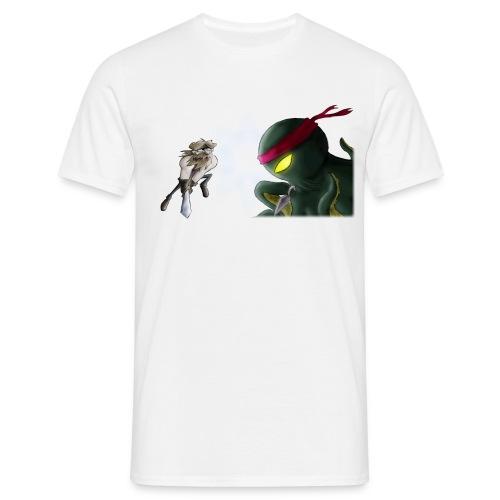 Beardyman vs Ninja Octopus - Men's T-Shirt