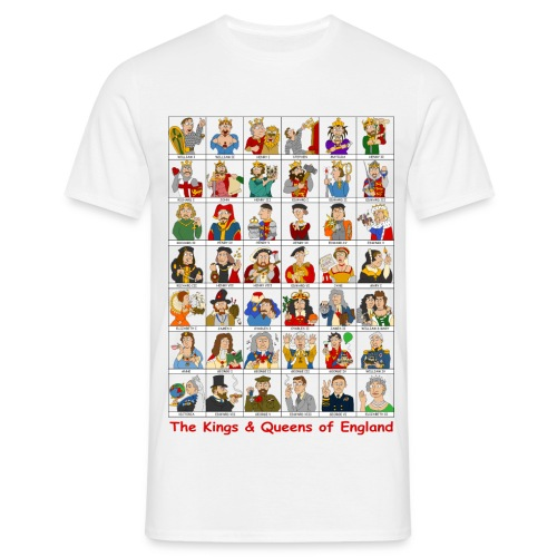 kings queens england2 png - Men's T-Shirt