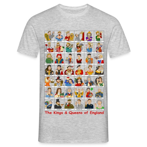 Kings & Queens of England (Single Sided) - Men's T-Shirt