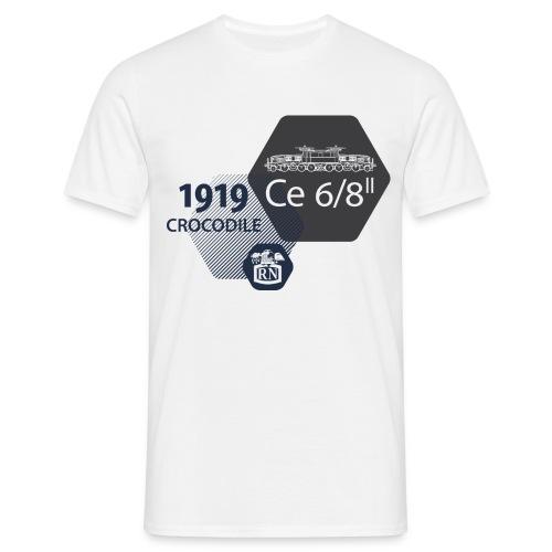 Waben Krokodil grau - Men's T-Shirt