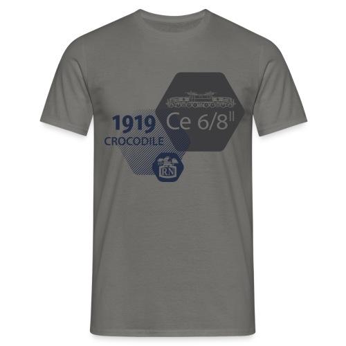 Waben Krokodil grau - Männer T-Shirt