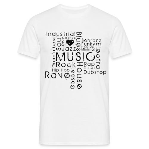 Music addicted - Männer T-Shirt
