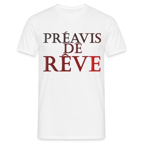 préavis de rêve (rouge) - T-shirt Homme
