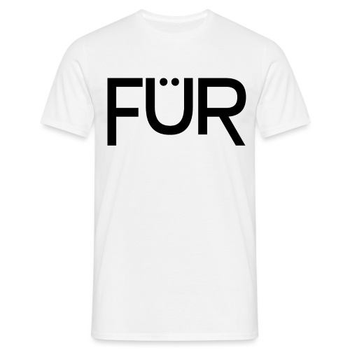 fuer shirt black 01 - Men's T-Shirt