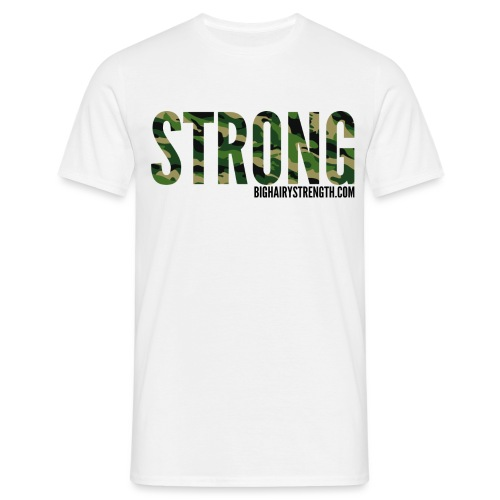 STRONG Camo Print - Men's T-Shirt