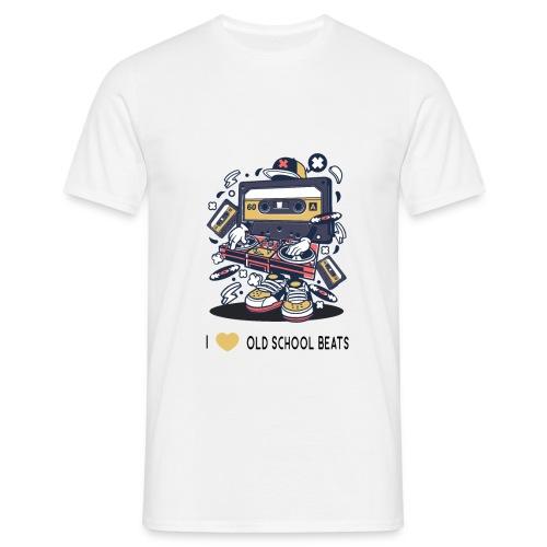 I Love Old School Beats Retro Design - Männer T-Shirt