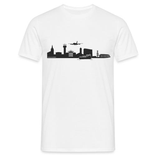 Finkenwerder Silhouette schwarz - Männer T-Shirt