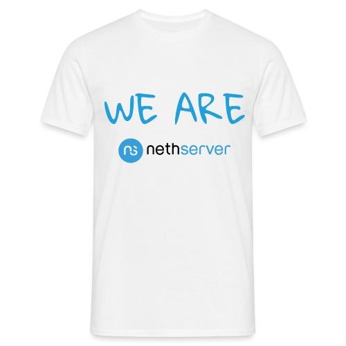 blue-black-rectangle - Men's T-Shirt