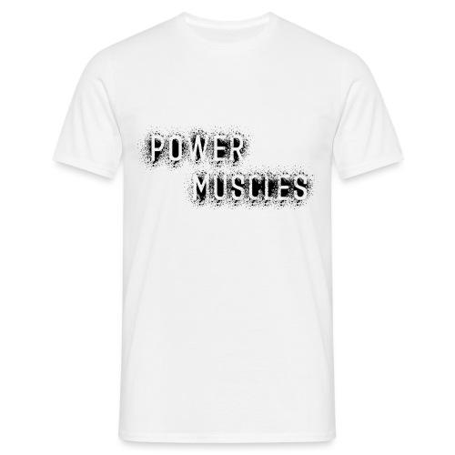 Aufschrift schwarz - Männer T-Shirt